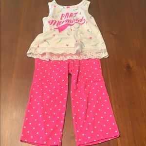 Pj set that are pants and tank with lace detail